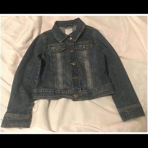 ❤️ Girls Denim Jeans Jacket Size Medium 7/8